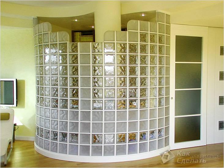 Дизайн стеклоблоками