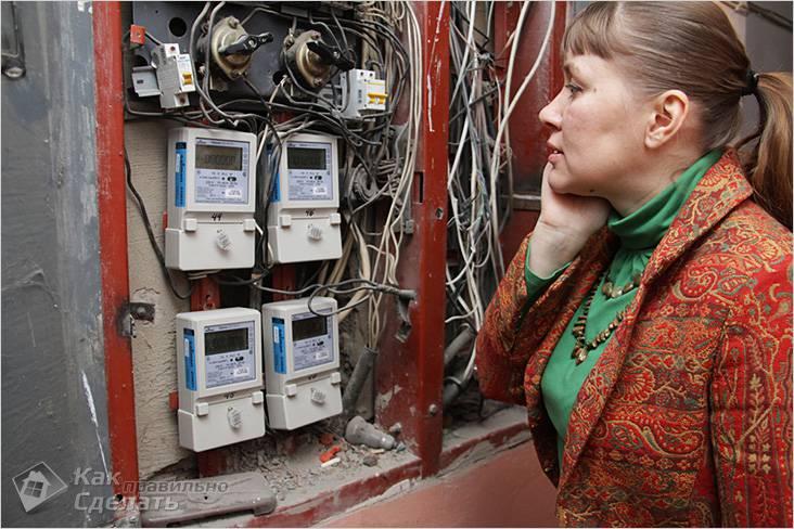 Электросчетчики в общем щитке