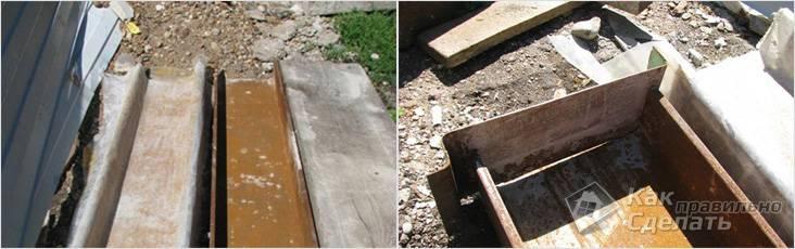 Самодельная форма для изготовления бордюров из бетона