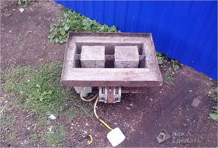 Закреплен мотор от стиральной машины
