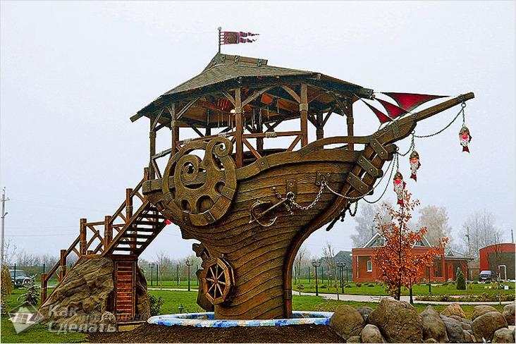 Беседка — корабль «Алые паруса»