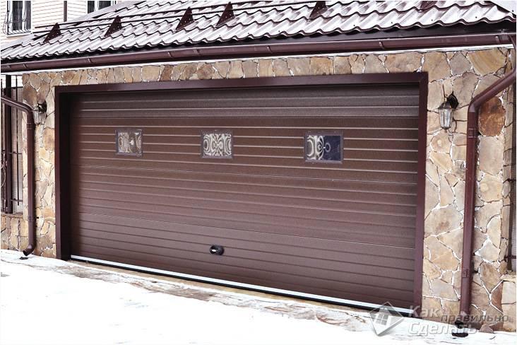 Как сделать ворота на гараж своими руками