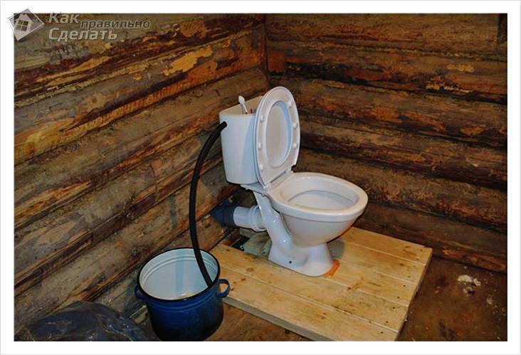 Как сделать туалет в частном доКак сделать