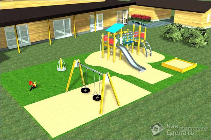 Схема детской площадки