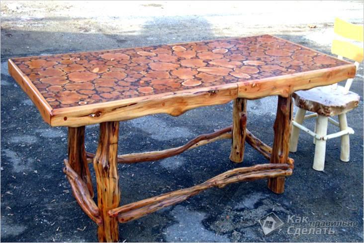 Своими руками стол для дачи