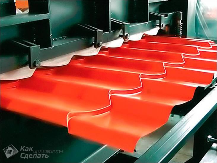 Изготовление металлочерепицы