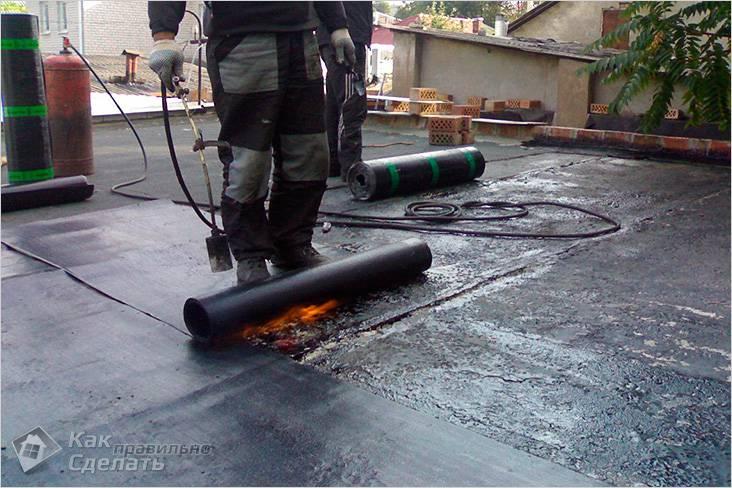 Как покрыть крышу стеклоизолом
