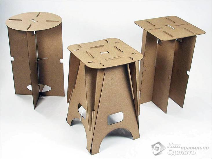 Барные стулья из фанеры