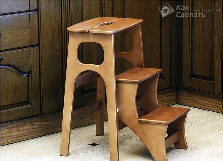 Барный стул со стремянкой