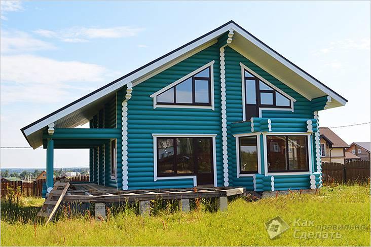 Дом покрашен акриловой краской