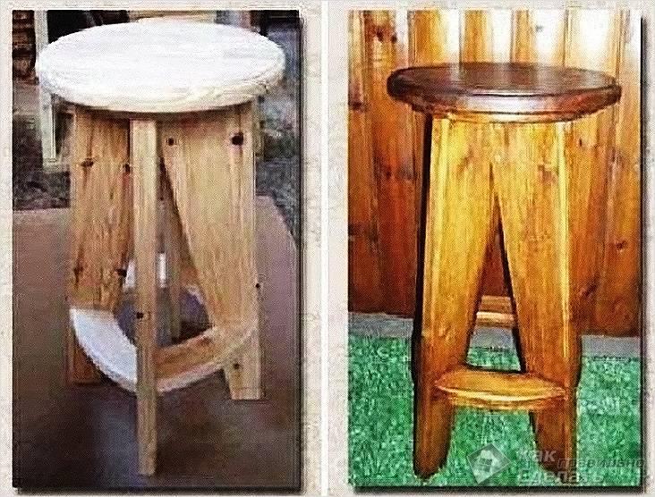Готовый барный стул из дерева