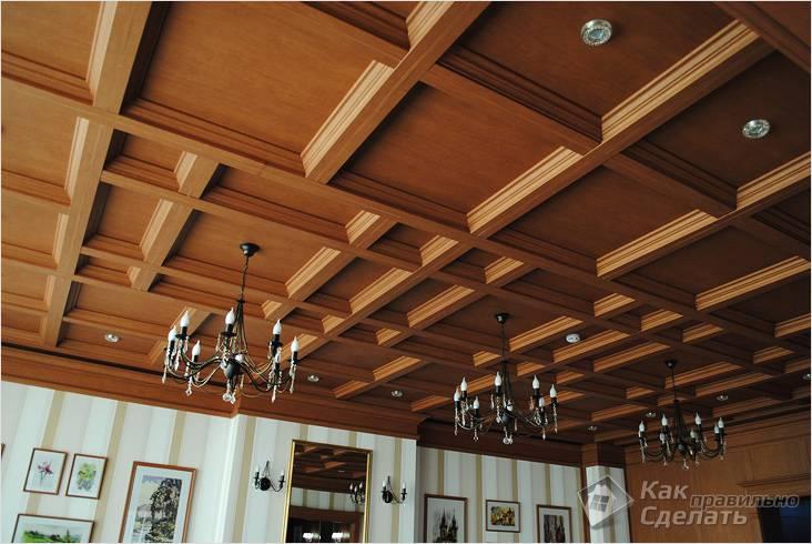 Кессонные деревянные потолки