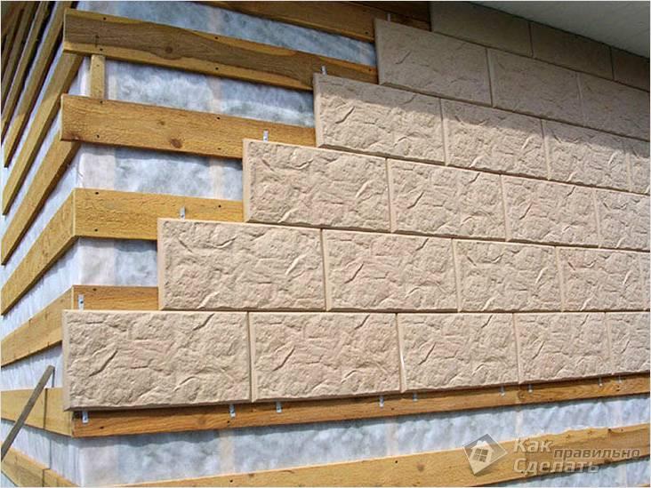 Монтаж плитки на фасад