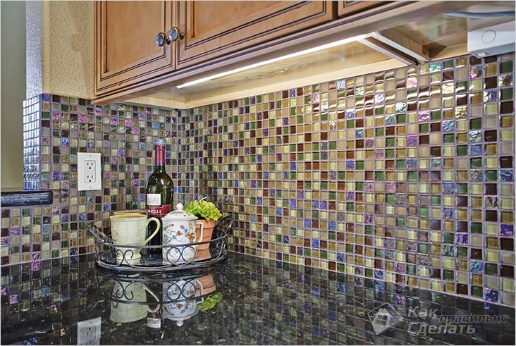 Мозаика для фартука кухни