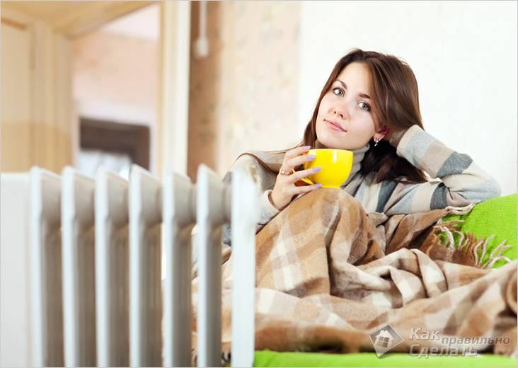 Радиатор хорошо обогревает помещение