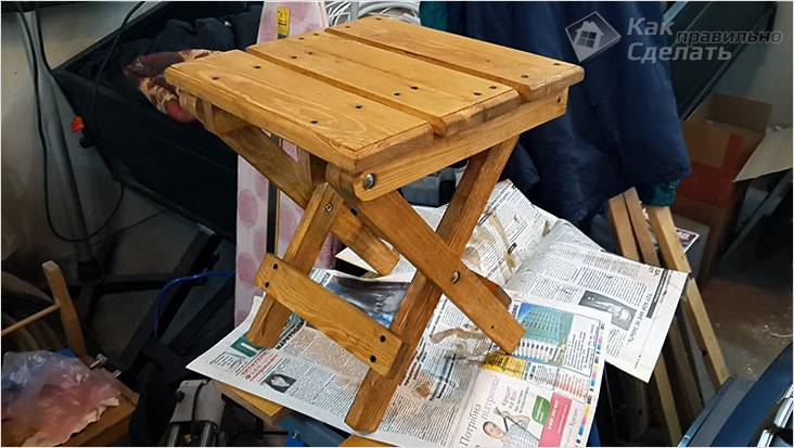 Складной стул-табурет