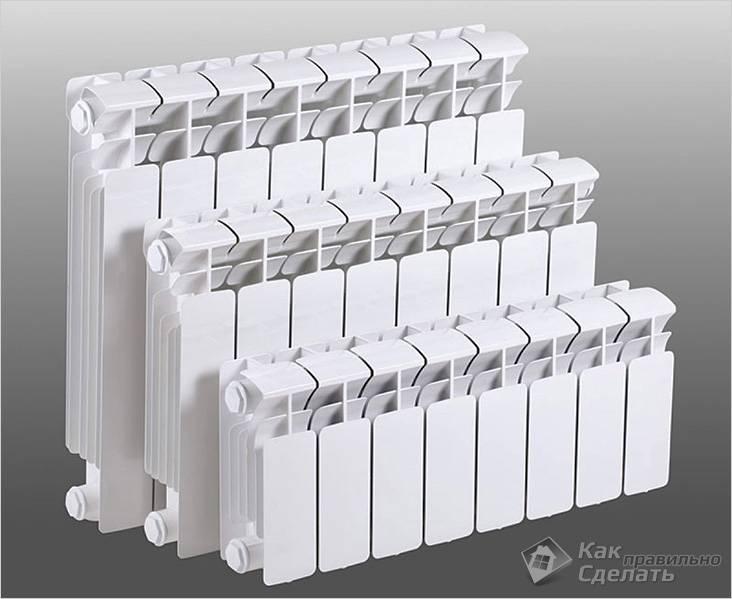 Важно подобрать высоту батареи и количество секций