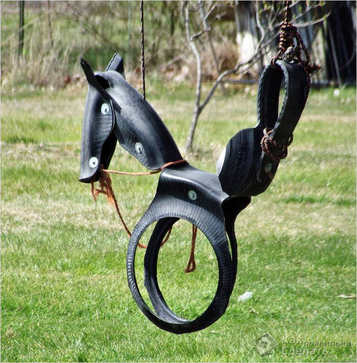 Качели-лошадка