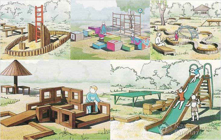 Планировка детской площадки