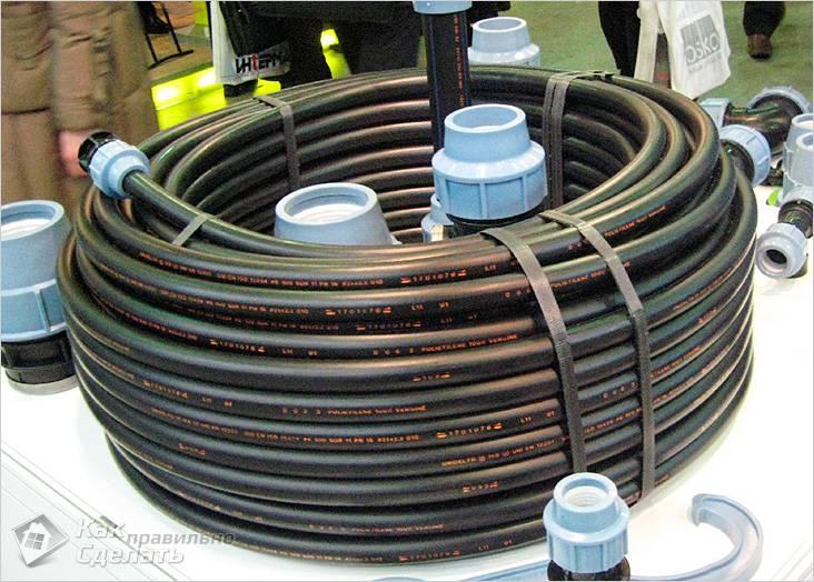 Из труб ПНД легко собрать водопровод
