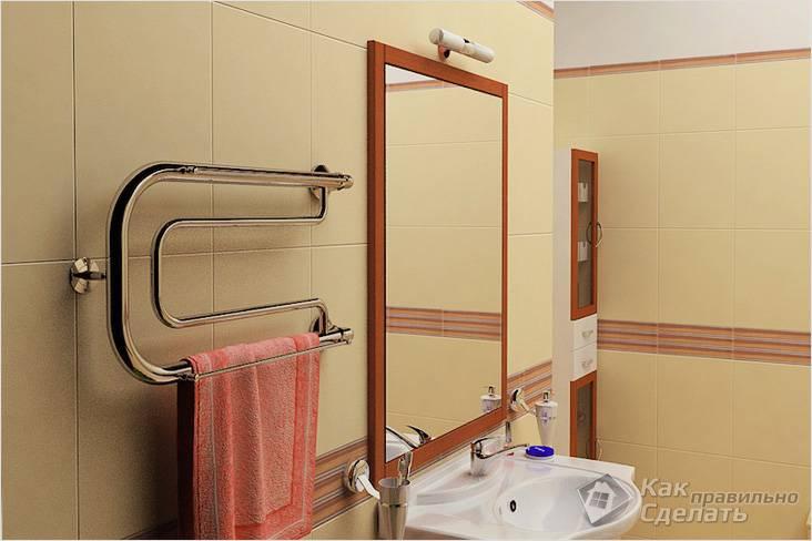 Как установить полотенцесушитель в ванной