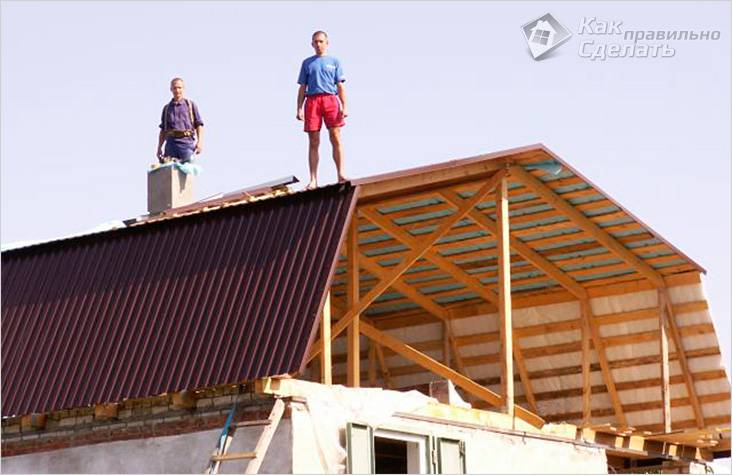 Крыша мансарда своими руками видео фото