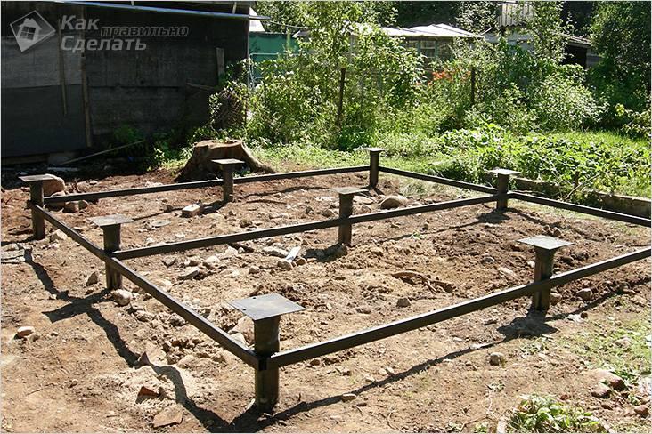 Свайный фундамент для деревянной бани