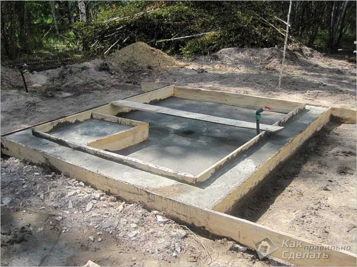 Основа под банную печь