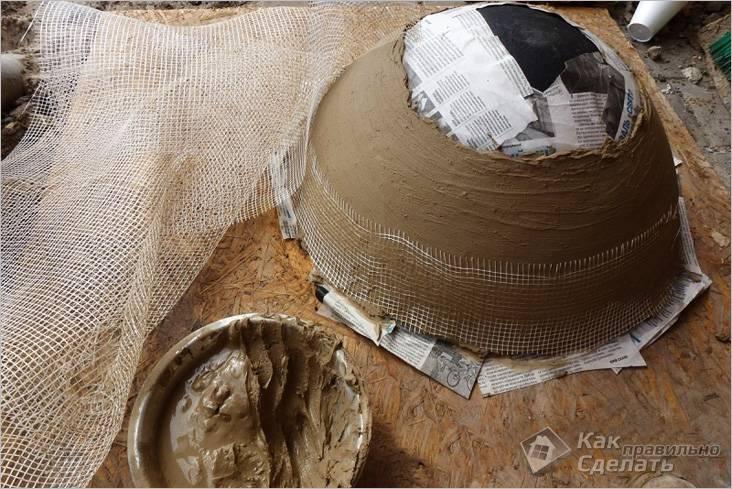 Изготовление наземной глиняной части