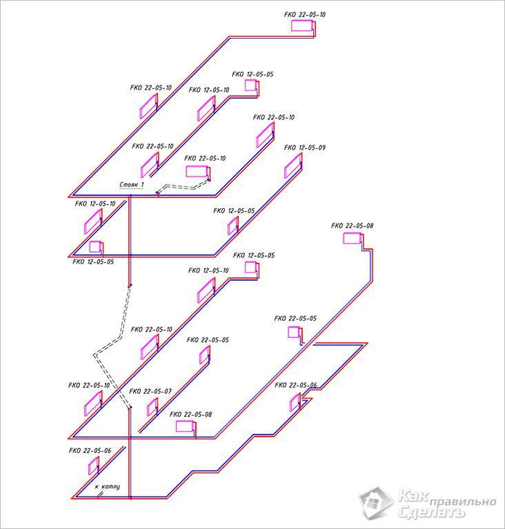 Пример аксонометрической схемы