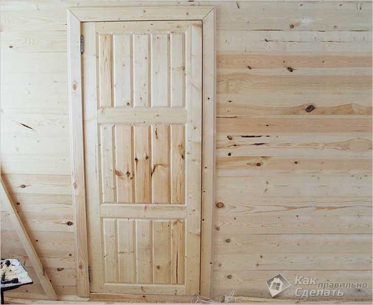 Филенчатая дверь своими руками