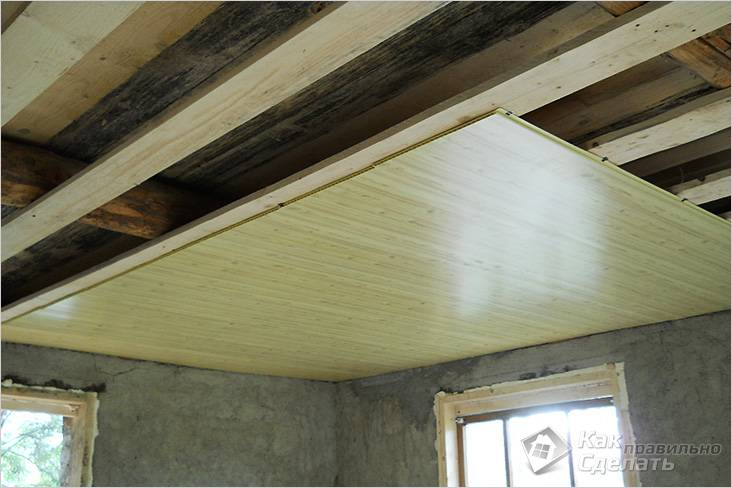 Монтаж панелей на деревянный каркас