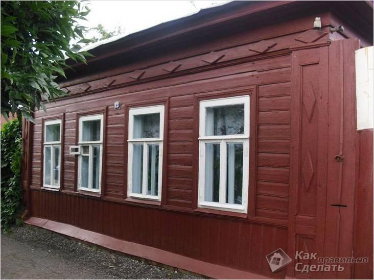 Обновленный деревянный дом