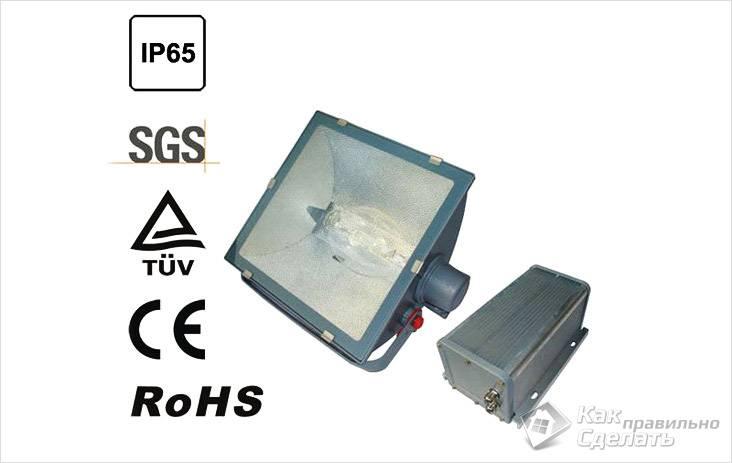 Светильник со степенью защиты IP65
