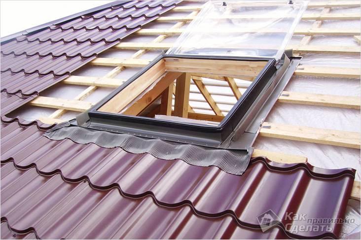Схема установки мансардного окна