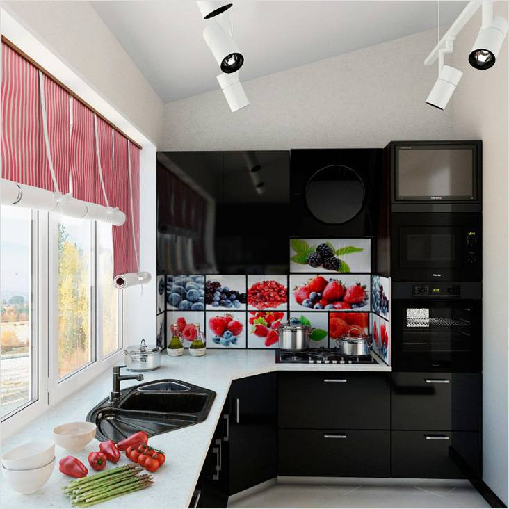 Кухня на лоджии может быть полноценной и стильной