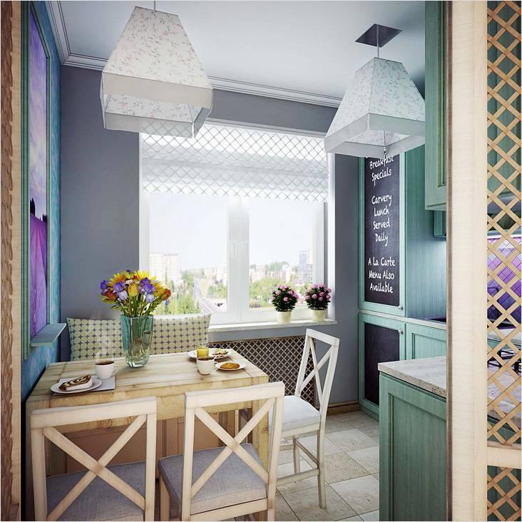 Дизайн в прованском стиле сделает пространство маленькой кухни более воздушным