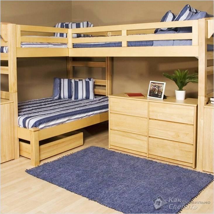 С тремя спальными местами