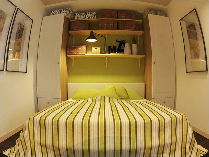Спальня без окон. Так может выглядеть спальня в однокомнатной хрущевке