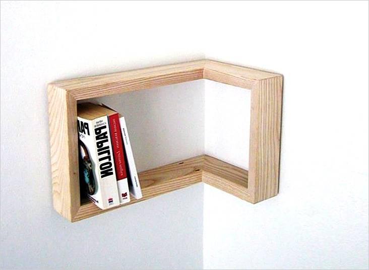 Угловая полка для книг