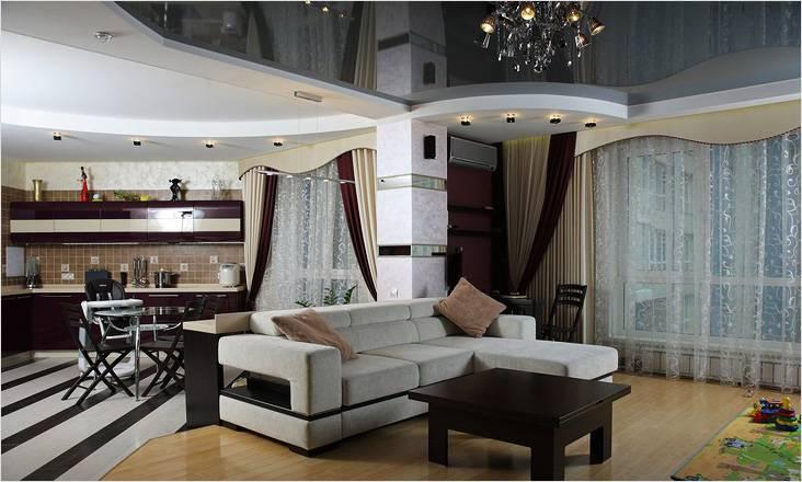 Ремонт квартир из гипсокартона подвесной