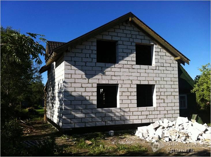 дом из пеноблоков 6 на 9