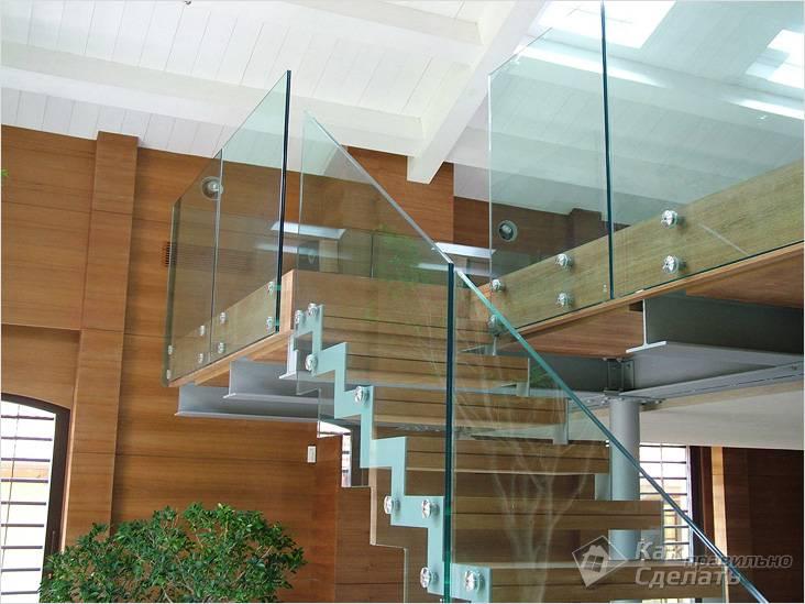 Сплошное стеклянное ограждение