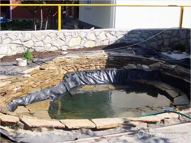 Обустройство пленочного водоема