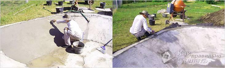 Выравнивающий слой бетона