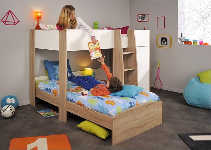 Детская двухъярусная кровать из ЛДСП