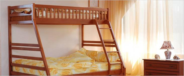 Двухъярусная кровать для взрослого и ребенка
