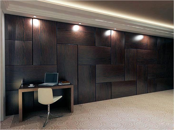 Отделка стен декоративными деревянными панелями