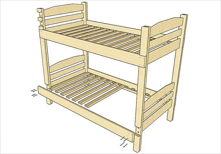 Способ крепления деревянных деталей кровати