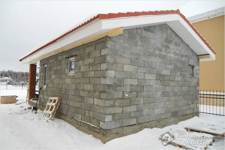 строительство бани из блоков своими руками пошаговая инструкция видео